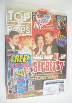 Top Of The Pops magazine - Hear'Say cover (April 2001 - With Britney Magnets)