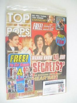 Top Of The Pops magazine - Hear'Say cover (April 2001 - With Shane Filan Magnets)