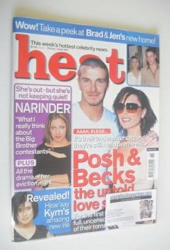 Heat magazine - David and Victoria Beckham cover (30 June - 6 July 2001 - Issue 123)