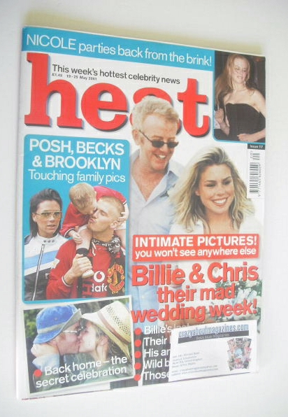 <!--2001-05-19-->Heat magazine - Chris Evans and Billie Piper cover (19-25