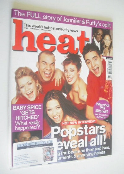 <!--2001-02-24-->Heat magazine - Popstars cover (24 February - 2 March 2001