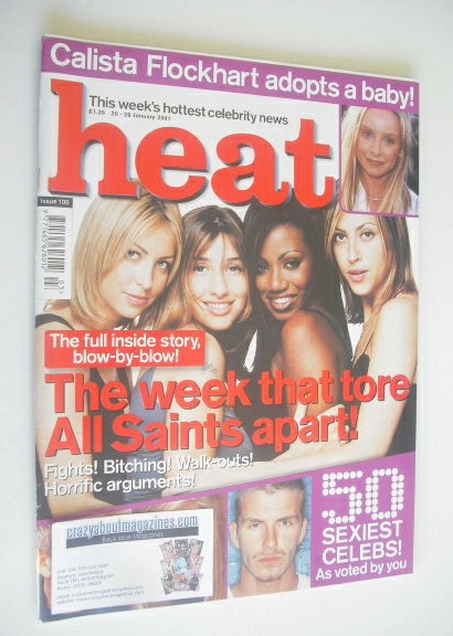 <!--2001-01-20-->Heat magazine - All Saints cover (20-26 January 2001 - Iss