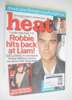 Heat magazine - Robbie Williams cover (11-17 November 2000 - Issue 91)