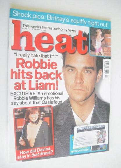 <!--2000-11-11-->Heat magazine - Robbie Williams cover (11-17 November 2000
