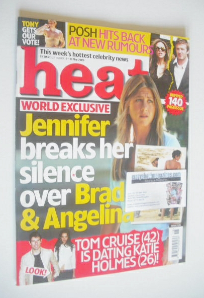 <!--2005-05-07-->Heat magazine - Jennifer Aniston cover (7-13 May 2005 - Is