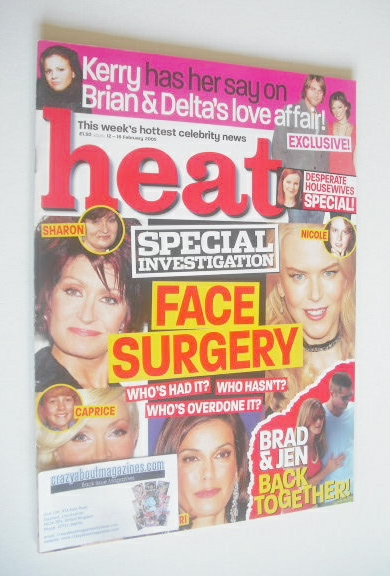 <!--2005-02-12-->Heat magazine - Face Surgery cover (12-18 February 2005 -