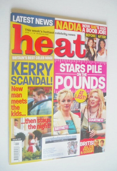 <!--2005-02-19-->Heat magazine - Stars Pile on the Pounds cover (19-25 Febr