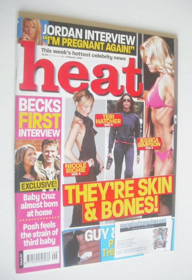 <!--2005-03-05-->Heat magazine - They're Skin & Bones cover (5-11 March 200