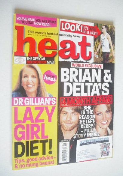 <!--2005-01-15-->Heat magazine - Brian McFadden and Delta Goodrem cover (15