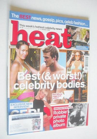<!--2002-10-05-->Heat magazine - Best (& Worst!) Celebrity Bodies cover (5-