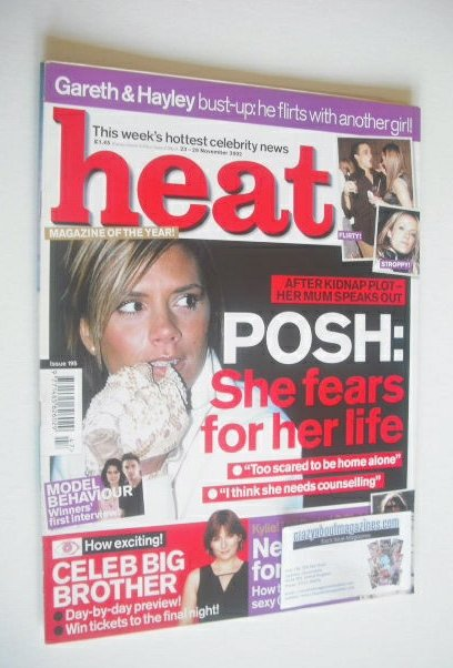 <!--2002-11-23-->Heat magazine - Victoria Beckham cover (23-29 November 200