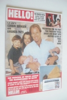<!--1992-05-23-->Hello! magazine - Corbin Bernsen and Amanda Pays cover (23 May 1992 - Issue 204)