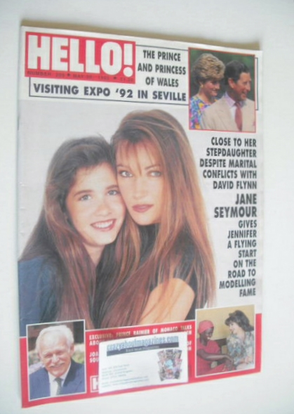 <!--1992-05-30-->Hello! magazine - Jane Seymour cover (30 May 1992 - Issue