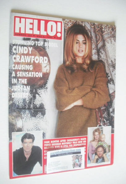 <!--1992-05-02-->Hello! magazine - Cindy Crawford cover (2 May 1992 - Issue