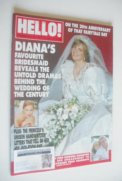 <!--2001-07-31-->Hello! magazine - Princess Diana cover (31 July 2001 - Iss