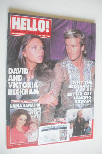 <!--2003-03-04-->Hello! magazine - David and Victoria Beckham cover (4 Marc