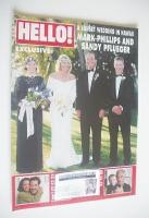 <!--1997-02-15-->Hello! magazine - Mark Phillips and Sandy Pflueger wedding cover (15 February 1997 - Issue 445)