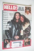 <!--1997-01-18-->Hello! magazine - Joaquin Cortes and Naomi Campbell cover (18 January 1997 - Issue 441)