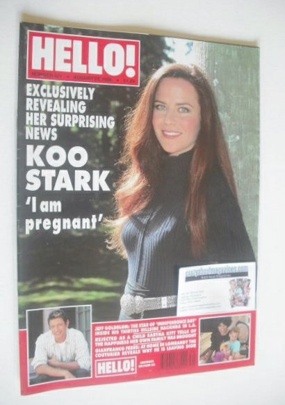 <!--1996-08-24-->Hello! magazine - Koo Stark cover (24 August 1996 - Issue