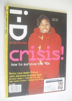 i-D magazine - Monie Love cover (February 1993 - No 113)