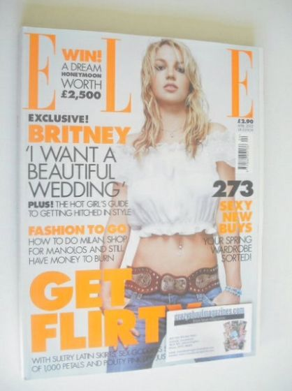 <!--2002-04-->British Elle magazine - April 2002 - Britney Spears cover