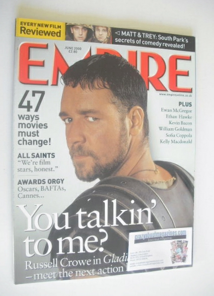 <!--2000-06-->Empire magazine - Russell Crowe Gladiator cover (June 2000 -