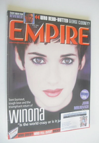 <!--2000-04-->Empire magazine - Winona Ryder cover (April 2000 - Issue 130)