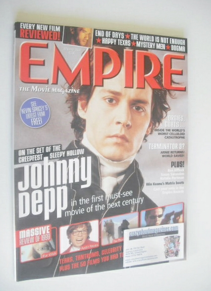 <!--2000-01-->Empire magazine - Johnny Depp cover (January 2000 - Issue 127