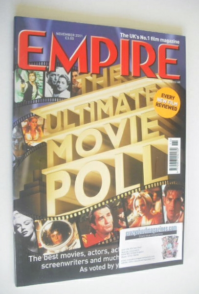 <!--2001-11-->Empire magazine - The Ultimate Movie Poll cover (November 200
