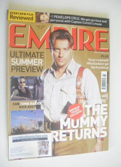 <!--2001-06-->Empire magazine - The Mummy Returns cover (June 2001 - Issue