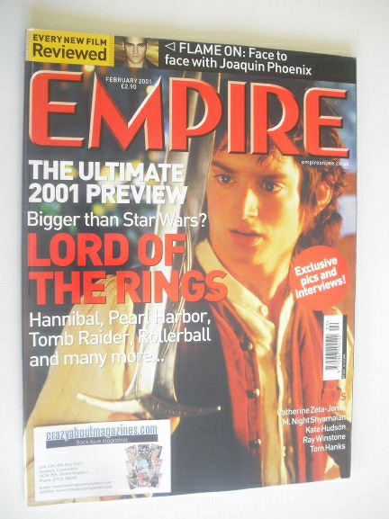 <!--2001-02-->Empire magazine - Elijah Wood cover (February 2001 - Issue 14