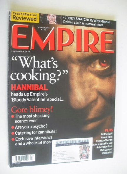 <!--2001-03-->Empire magazine - Hannibal cover (March 2001 - Issue 141)