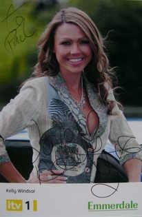 Adele Silva autograph (ex Emmerdale actor)