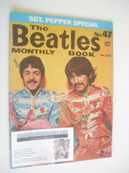The Beatles Monthly Book - Paul McCartney and George Harrison cover (June 1967 - No 47)