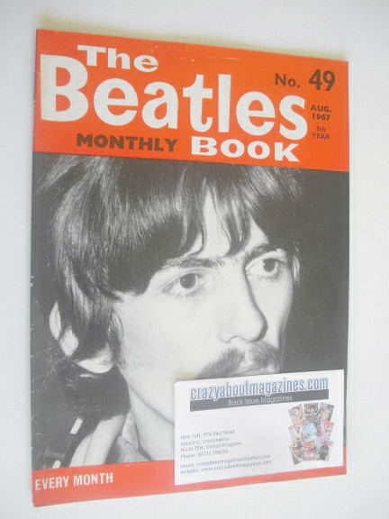 Book Cover Black Beatles ~ The beatles monthly book george harrison cover august