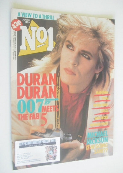 <!--1985-06-08-->No 1 magazine - Nick Rhodes cover (8 June 1985)