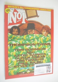 No 1 magazine - Thompson Twins cover (19 November 1983)