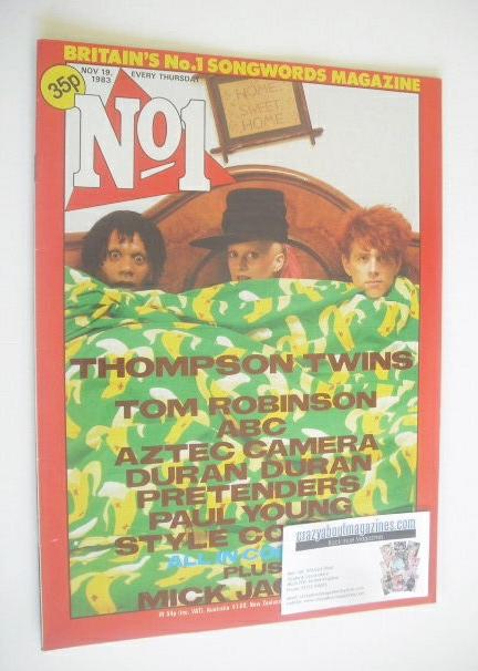 <!--1983-11-19-->No 1 magazine - Thompson Twins cover (19 November 1983)