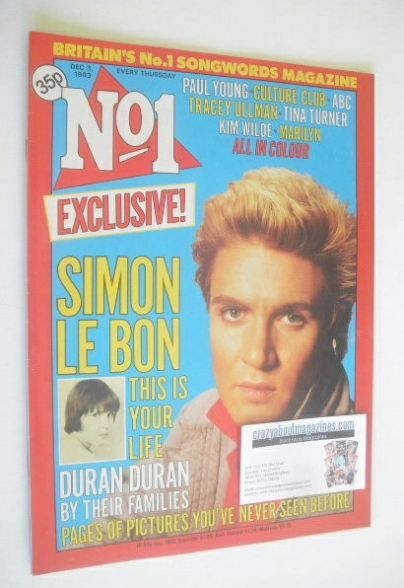 <!--1983-12-03-->No 1 magazine - Simon Le Bon cover (3 December 1983)
