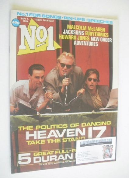 <!--1984-09-01-->No 1 Magazine - Heaven 17 cover (1 September 1984)