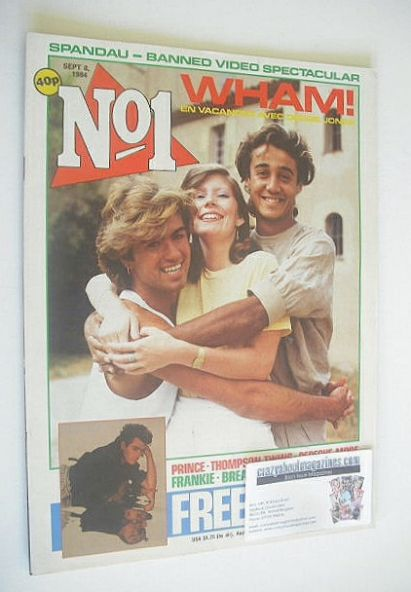 <!--1984-09-08-->No 1 Magazine - Wham! cover (8 September 1984)