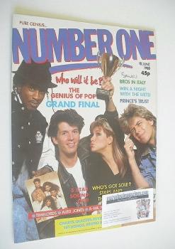 NUMBER ONE Magazine - The Genius Of Pop cover (18 June 1988)