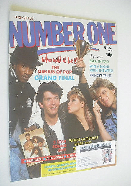 <!--1988-06-18-->NUMBER ONE Magazine - The Genius Of Pop cover (18 June 198