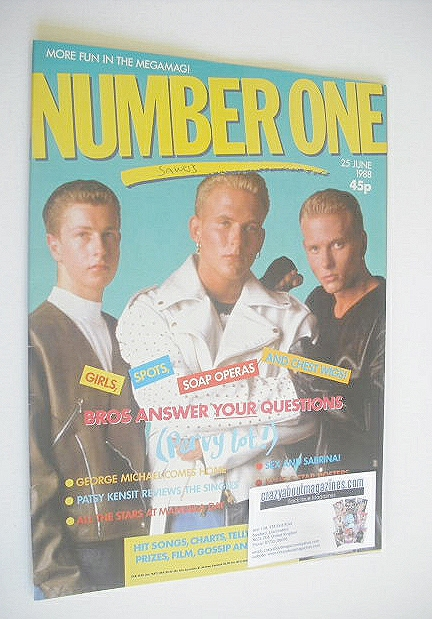 <!--1988-06-25-->NUMBER ONE Magazine - Bros cover (25 June 1988)