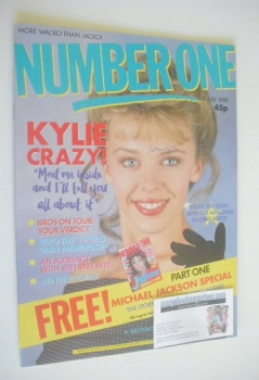 NUMBER ONE Magazine - Kylie Minogue cover (9 July 1988)