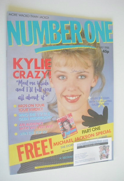 <!--1988-07-09-->NUMBER ONE Magazine - Kylie Minogue cover (9 July 1988)