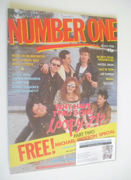 <!--1988-07-16-->NUMBER ONE Magazine - T'Pau cover (16 July 1988)