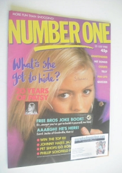 NUMBER ONE Magazine - Patsy Kensit cover (23 July 1988)
