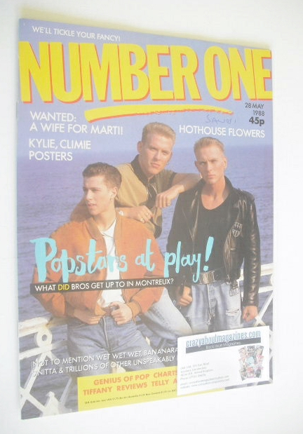 <!--1988-05-28-->NUMBER ONE Magazine - Bros cover (28 May 1988)
