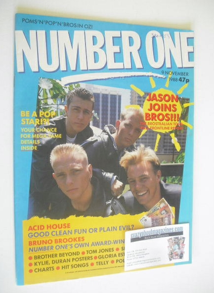 <!--1988-11-09-->NUMBER ONE Magazine - Bros cover (9 November 1988)